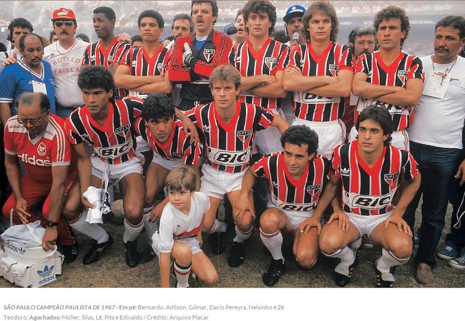Resultado de imagem para sao paulo campeao paulista 1987